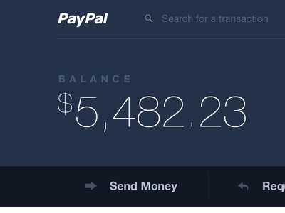 PayPal Redesign dashboard corporate finance transfer paypal redesign