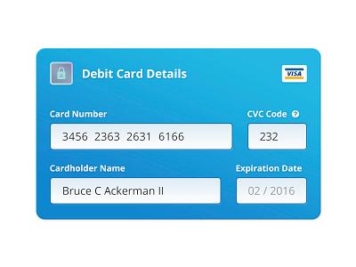 Debit Card debit card payment input form avantcredit