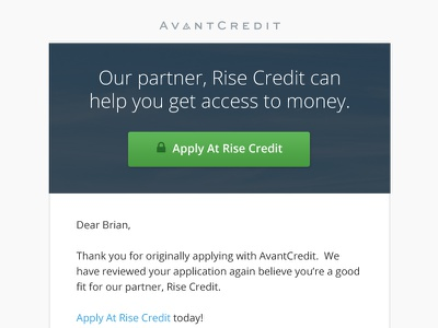 Email Template email newsletter avantcredit