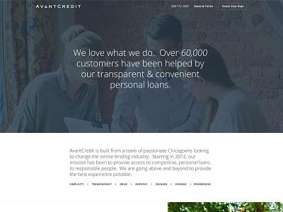 New! About Us Page avantcredit about us web