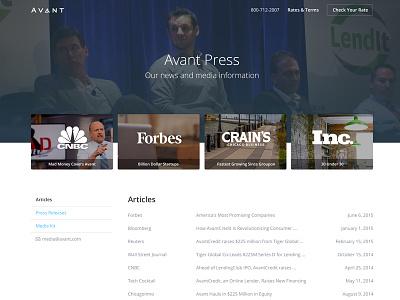 Press Page press page avantcredit avant