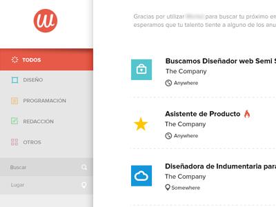 Jobs website UI