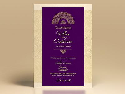 Elegant Golden Wedding Invite pakastani bangladeshi desi indian arab middle eastern shaadi invitation wedding