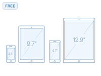 iPhone + iPhone Outline Mocks