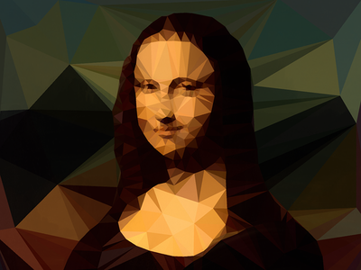 Low Poly Mona Lisa illustration low poly art mona lisa
