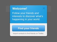 new Twitter iOS welcome dialog