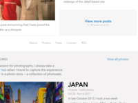 new blog homepage iterations