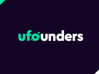 Logo proposal ufounders type vector icon brand business startup corporative logo
