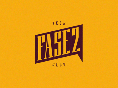 Fase2 - Techclub club tech tecnologia charlas marca logotipo design typography symbol icon icon mark professionals conversation people talks brand vector phase logo meet
