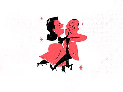 Collegiate Shag - Breaks move steps jazz swing music dance character design vintage modern kids illustration