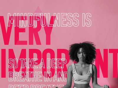 Mindfulness part 1 - social media post mindfulness facebook instagram social media graphic design design typography