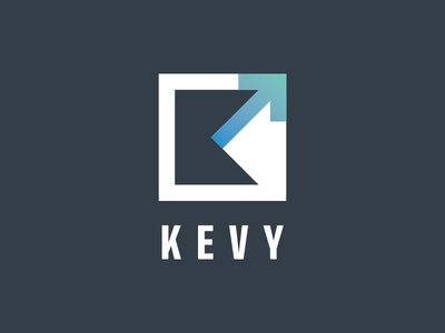 Kevy logo monogram technology simple