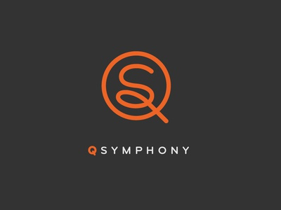 QSymphony q icon simple monogram logo