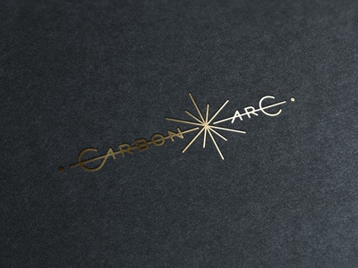 Carbon Arc gold art deco monogram logo