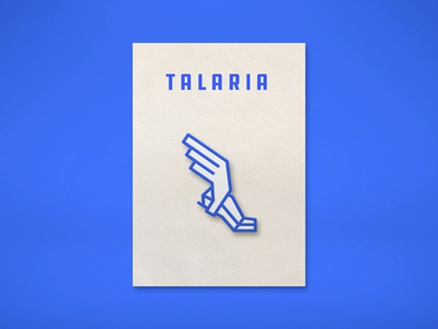 Talaria Pin enamel wing shoe icon simple line greek logo