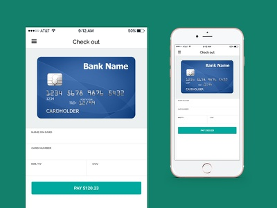 Check Out Page check out credit card pattern mobile checkout