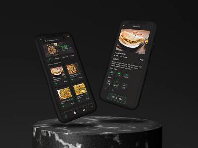 Food Delivery App - UI web design ux ui appdesign graphic design design