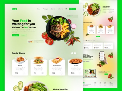 Food Delivery Landing Page graphic design design ux branding appdesign ui
