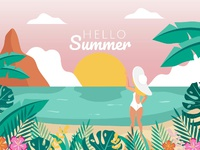 Hello Peach Sky in Summer