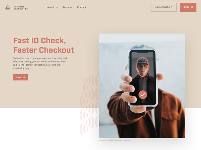 Internet Verification shadow invision sketch hero ux design ui design ux ui websites web design