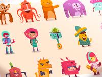 Hopscotch app characters