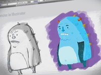 Time-lapse video: Drawing with Adobe Illustrator