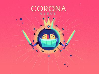 :::Coronavirus::: mask ninja warrior china chinese illustration virus vector