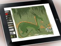 Dragon lair- concept sketch in ipad