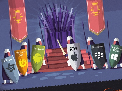 Game of Ecosystems  mobile game throne ecosystems knights warriors medieval banners swords shields