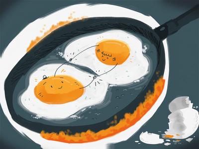 Egg Love (in a frying pan)