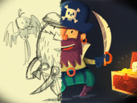 Pirate: from concept to final illustration