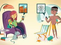 Photoswap app: intro illustrations