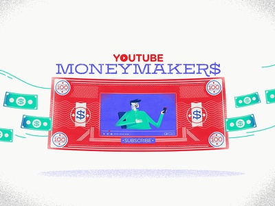 :::YouTube MoneyMaker$::: income views dollar money video player youtube banknote
