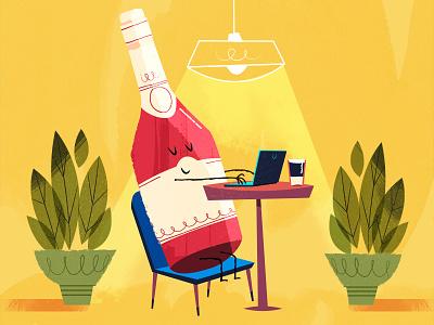 :::Soda bottles at  Café::: plants light cafe soda beverages bottles happy