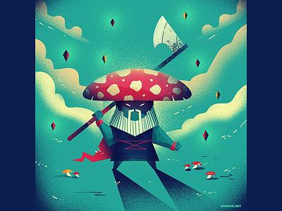 :::Mushroom Fighter::: concept art fighter warrior mushroom game characters character design character illustration