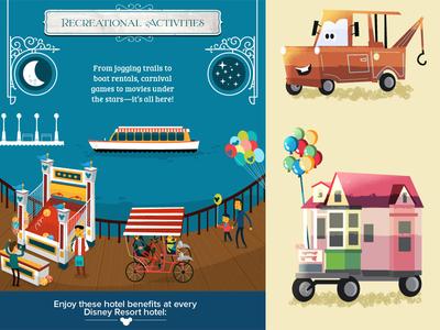 Disney Graphics boardwalk villas disney resort holiday cars up baloons ship dock