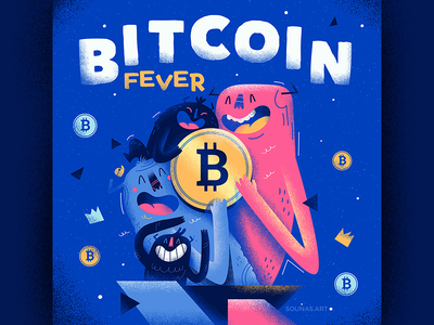 :::Bitcoin Fever::: character happy vector illustration characterdesign monster crypto bitcoin