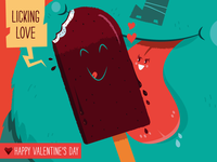 Licking Love - card #2 of 6