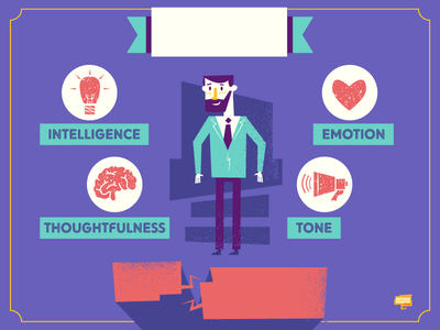 Speaking Traits language icons speaking person infographic