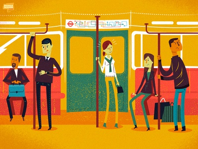 Commuter stress anxious train mindful realx stress people subway tube