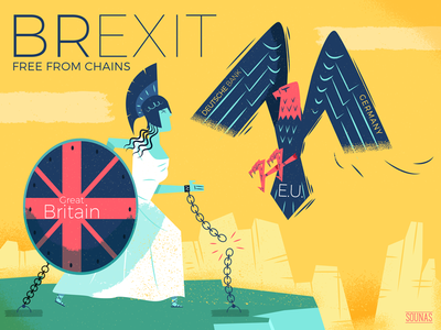 :::Brexit - Free from chains::: prometheus referendum eu eagle victorian athena great britain uk