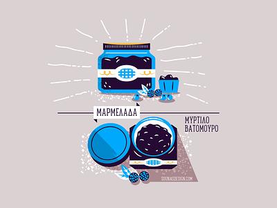 :::Berry Jam/Marmalade::: pot can breakfast blueberry raspberry marmalade