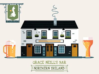 :::Pub illustration::: building design architect drink beer irish english bar pub