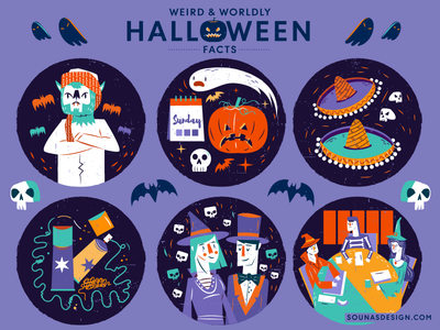 :::Halloween Illustrations - part C::: law sobreros witch outfit costumes wolfman halloween pumpkin