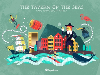 :::The Tavern of the Seas: Cape Town, S. Africa::: africa whale surf barrel beer ship sail harbour port colony dutch sailors
