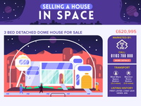 :::Selling a house in space - infographic:::