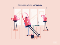 :::Mindful illustration - at work:::