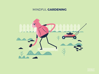 :::Mindful illustration - at garden:::