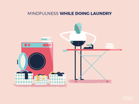 :::Mindful illustration - laundry:::