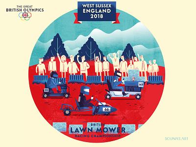 :::British games - Lawn Mower::: kart racing race mower uk games spaorts lawn